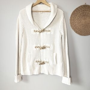 Denim & Supply Ralph Lauren Cable Knit Toggle Cardigan M